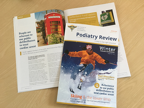 Podiatry review Winter 2018 cover and spread