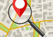 City Map with magnifier